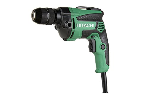 Corded Drill Driver - Hitachi D10VH2 3/8 inch Corded Drill, Variable Speed Trigger, Metal Keyless Chuck, 7.0 Amp, 0-2,700 RPM, 5 Year Warranty