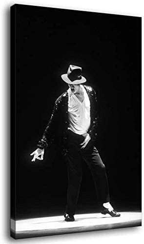 Wall Art Michael Jackson Poster African American Superstar Black Picture Print on Canvas Home Decoration Framed and Unframed Mural