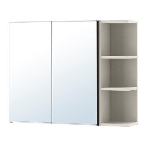 IKEA Mirror Cabinet 2 Doors/1 end Unit, Black-Brown, -