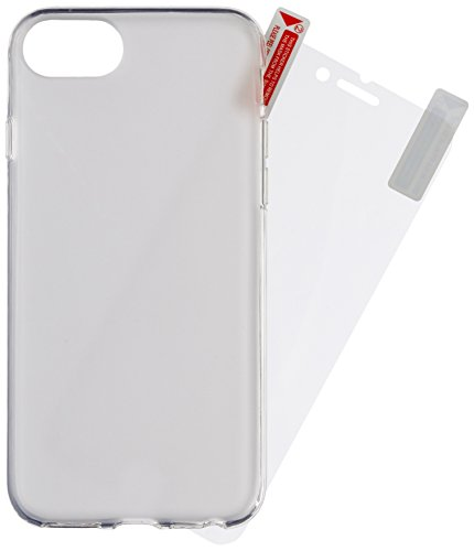 Caseit Flexible TPU Hülle und Kristallklare Displayschutzfolie im Set für Apple iPhone 7 - Frosted Matt