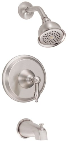 (Danze D510040BNT Fairmont Single Handle Tub and Shower Trim Kit, Brushed Nickel (Valve Not Included) )