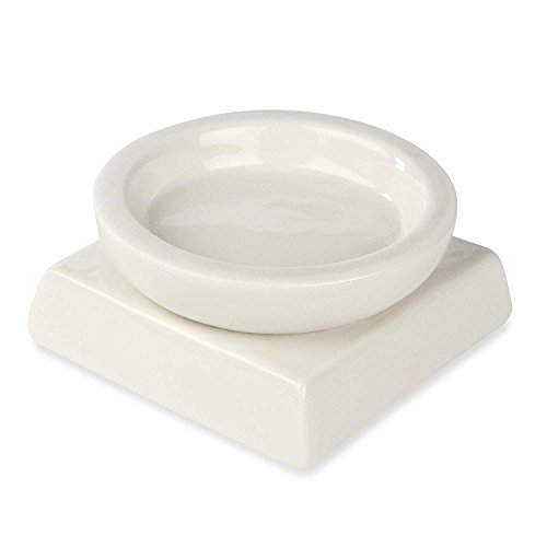 Ivy Lane Design A91209 White Porcelain Round/Square Candle Holder, (Square Unity Candle)