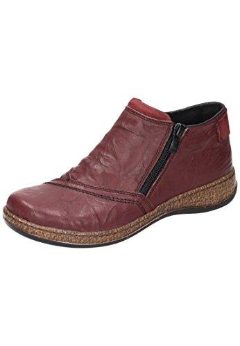 Comfortabele Dames Enkellaars Rood 991087-41 Rood