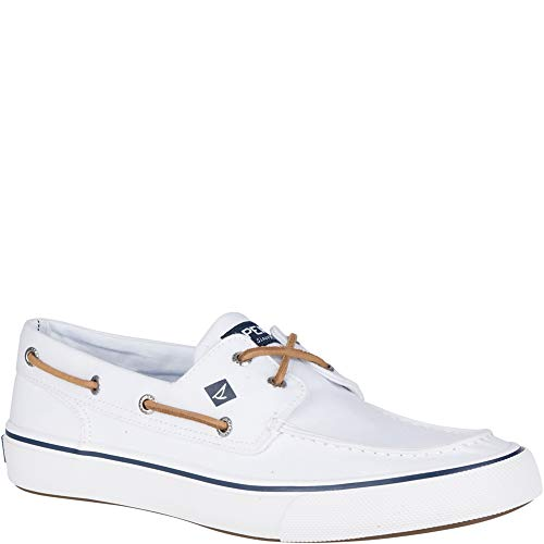 (Sperry Top-Sider Bahama II Oxford Shirt Sneaker Men 11.5 White)