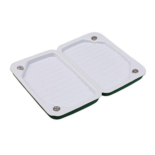 Fenteer Portable Fly Box Double Side Slit Foam Insert Soft Dry Fly Box