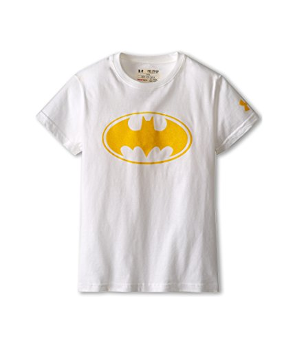 (Under Armour Big Girls' Alter Ego Batgirl Sparkle T-Shirt (White/Yellow, YMD))