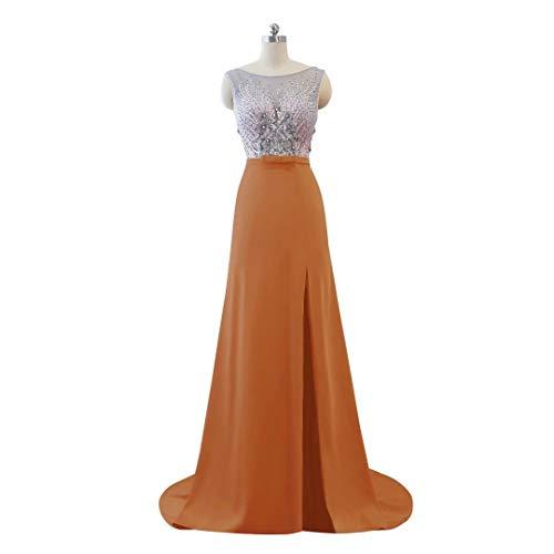 Lange Perlen Ausschnitt Abendkleid 15 V der Ballkleider Split Frauen Hohe Formale Spitze pwpqR1