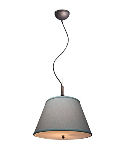 Pendant Light by Laura Ashley Gold-laced Cafe Finish with Textured Oatmeal Slotted UNO Empire Shade and Diffuser ()