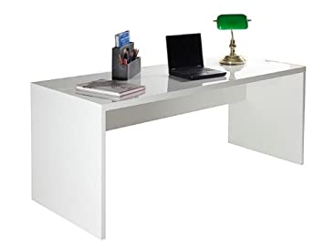 Schreibtisch weiß hochglanz 140  Composad Schreibtisch KRONOS in Hochglanz weiß: Amazon.de: Küche ...