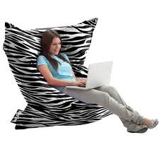 The Original Big Joe Bean Bag ZEBRA STRIPE