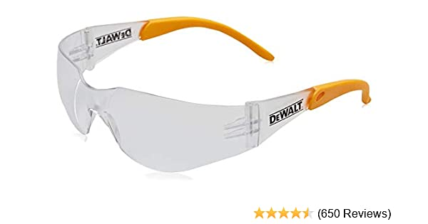 Dewalt DPG54-1D Protector Clear High Performance Lightweight Protective Safety Glasses with Wraparound Frame