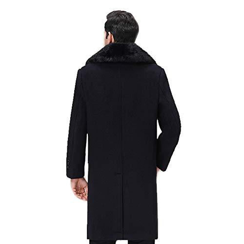 Aemax Laine En coat Trench Simple Décontractée Boutonnage Manteau Black Ajustée Rabattu Col Coupe rUyrOpwq