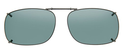 Cocoons Polarized Clip-on Square 2 L348G Sunglasses, Gunmetal, 60 - Clip Sunglasses Cocoon On