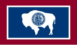 Wyoming 1917 State Indoor Outdoor Dyed 2-Ply Polyester Flag Grommets 5' X 8'