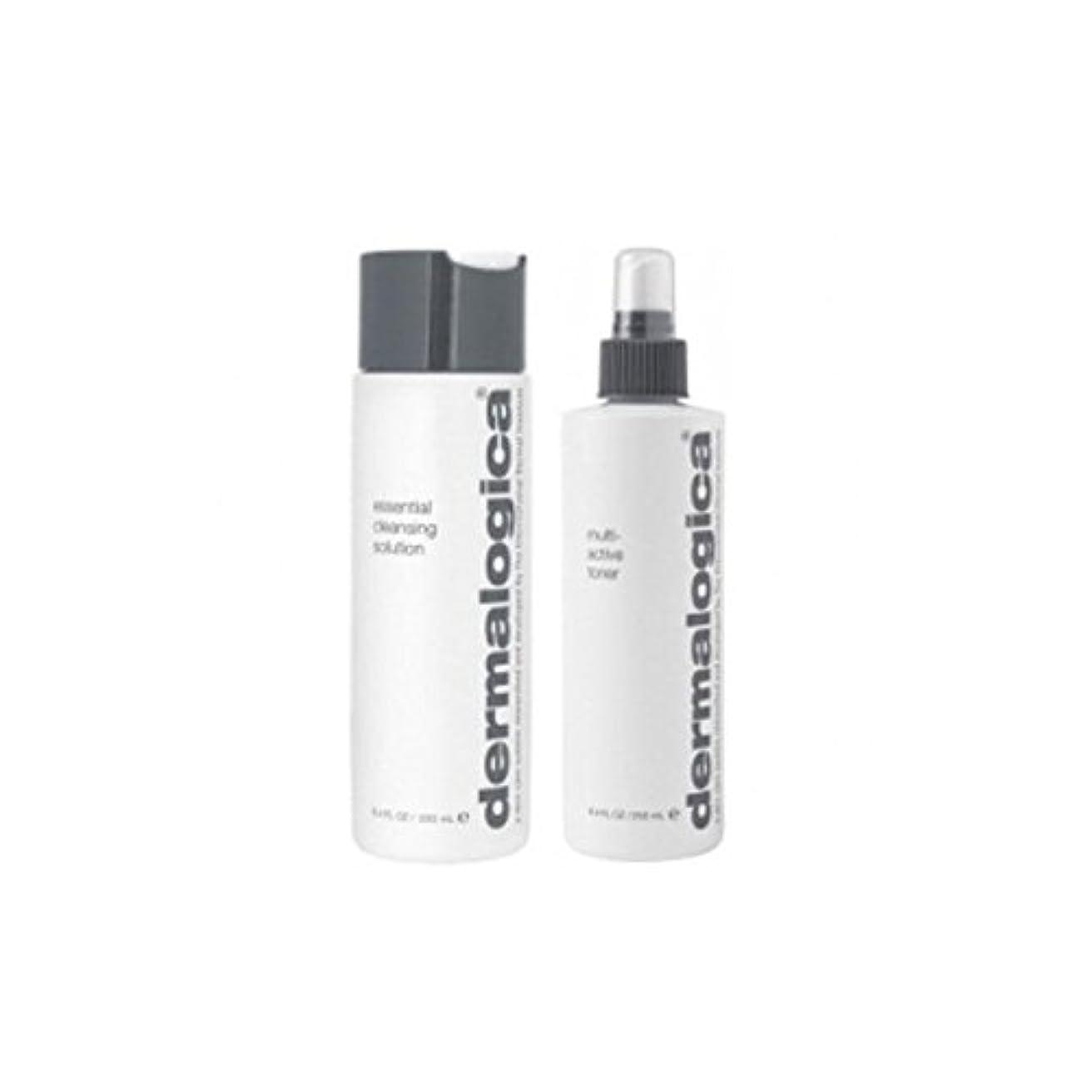 専門化するイサカ料理をするダーマロジカクレンジング&トーンデュオ - 乾燥肌 x4 - Dermalogica Cleanse & Tone Duo - Dry Skin (Pack of 4) [並行輸入品]