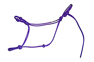 """Knotty Girlz Horse Rope Training Halter - 4 Knot From 1/4"""" Stiff Polyester Halter Cord - Size Rope Most Trainers Use! Weanling, Yearling, Small, Standard, Large, Mule and Draft sizes"""