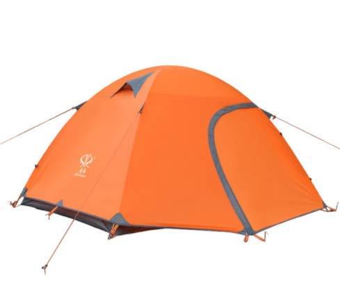 Amio 3-4 Persone Doppia Arrampicata Tenda Esterna Ultra Leggera Lega di Alluminio Impermeabile Tenda da Campeggio Tenda da Spiaggia (Colore   arancia)