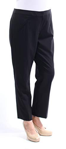 Tahari by Arthur S. Levine Women's Petite Bi-Stretch Slim Pant, Navy, 10P