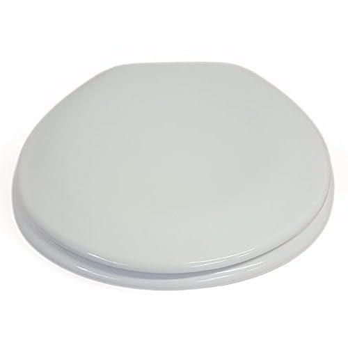 "EVIDECO 528829MOOREAB Round Toilet Seat Moorea Adjustable Hinges Beige 17.8""L x 14.5""W 85%OFF"