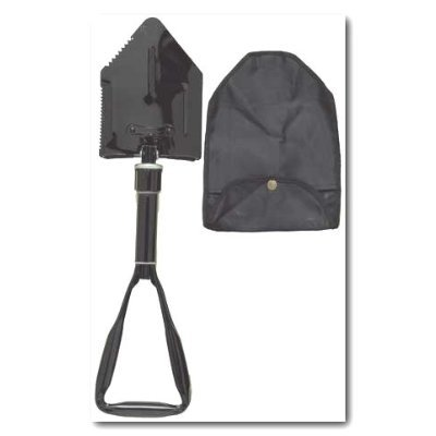 Shovel: Heavy Duty Deluxe 3-Way Folding / Tri-Fold Combination Shovel with Pick ~ About 24