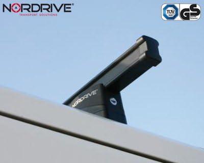 NORDRIVE Barres de Toit pour Peugeot Boxer 2/II 250 /Porte-Bagages Kargo 3-Barre en Acier Noir Depuis 04//2006/