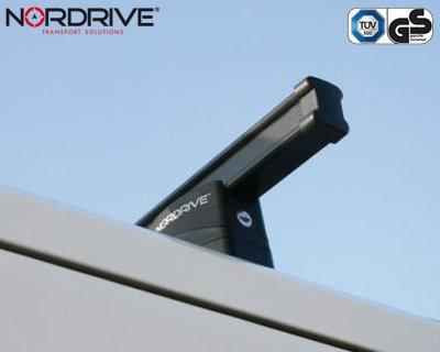 NORDRIVE Barres de Toit pour Renault TRAFIC 2/II /à partir de 03//2001//à 05//2014/ /Porte-v/élo Kargo 3-Barre en Acier Noir