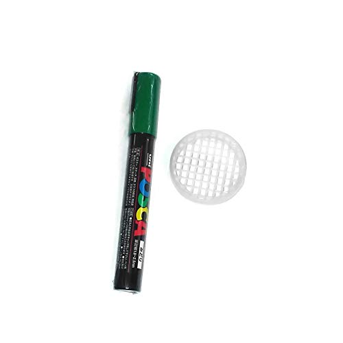 (Posca Queen bee GREEN color marking pen non-toxic pc5m & push in queen cage)
