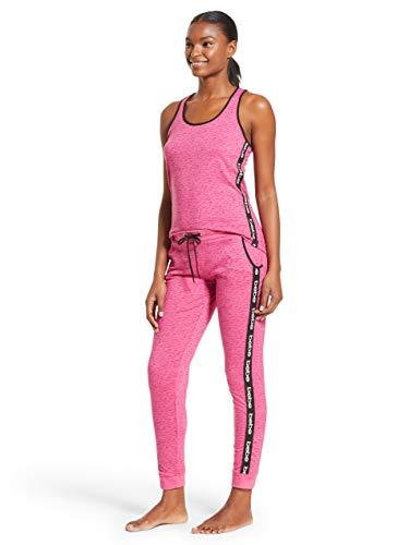 Bebe Tank - bebe Womens Racerback Tank Top and Skinny Pajama Pants Lounge Sleepwear Set Rose Violet Heather Medium