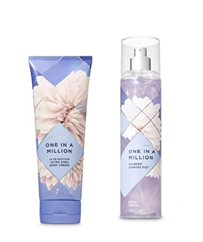 Bath and Body Works One in a Million Ultra Shea Body Cream and Diamond Shimmer Mist Gift ()