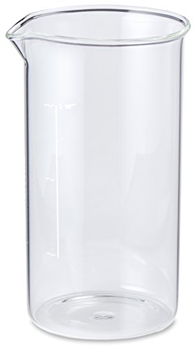 Aerolatte Universal Borosilicate Glass Replacement Carafe For French Press Coffee Maker, 3-Cup, 12-Ounce Capacity (12 oz, 350 ml)