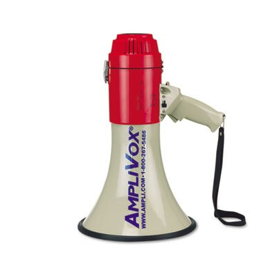 MityMeg Piezo Dynamic Megaphone, 25W, 1 Mile Range, Sold as 1 Each by Amplivox