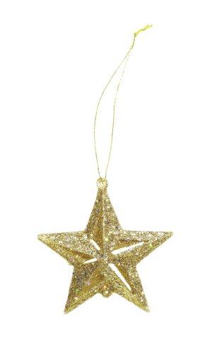 Darice 2469-30 12-Piece Star Ornament, 2-Inch, Gold