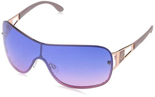 Rocawear Women's R3281 Rgdnd Non-Polarized Iridium Shield Sunglasses, Rose Gold Nude, 80 mm