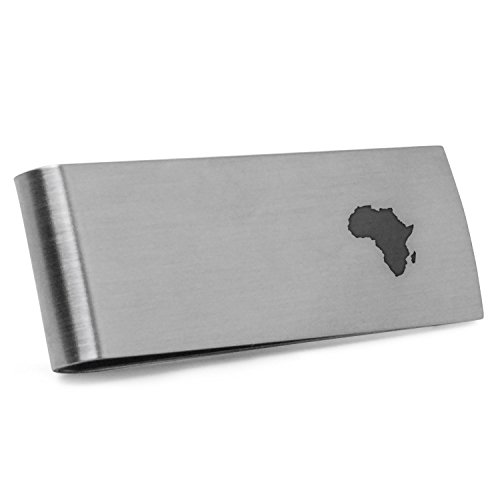Africa Money Clip | Stainless Steel Money Clip Laser Engraved In The USA. by Wooden Accessories Company