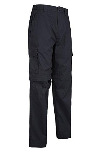Noir Mountain Sport Randonnée Warehouse Zip Voyage Homme Léger Résistant Short Convertible Pantalon Trek wpwqrO7