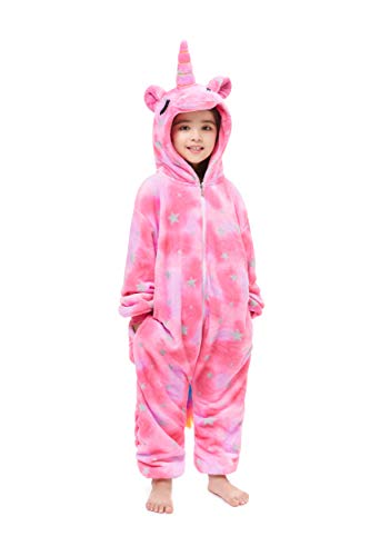 Yutown New Kids Unicorn Costume Animal Onesie Pajamas Halloween Dress Up Gift Star Close Eyes 120
