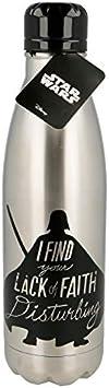 | Star Wars - Darth Vader | Botella de Agua Acero Inoxidable 780 ml - Botella Reutilizable Libre de BPA