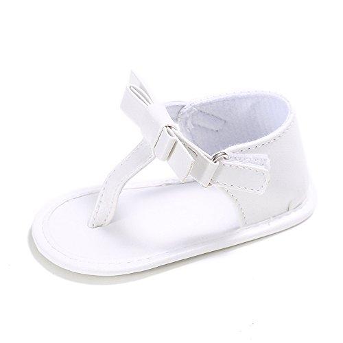 Baby Girl Dress Sandals (Estamico Baby Girls Soft Sole Summer Sandals Flip Flops US 4 White)