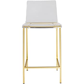 Amazon Com Bertoia Style Wire Counter Stool In Gold