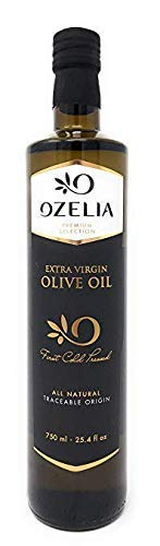 Extra Virgin Olive Oil by OZELIA 25 oz 100% Pure, Cold Pressed, Unfiltered, Non-GMO, Certified PDO, EVOO Gold Award Winning Best Olive Oil - For Cooking, Baking, Salad & Dressing (Salad With Balsamic Vinegar And Olive Oil)