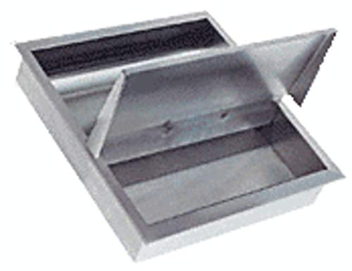 C.R LAURENCE Z910BS CRL Brushed Stainless Z-Series Square Type Flat Base Stainless Steel Clamp for 3//8 Glass