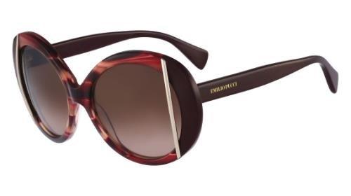 EMILIO PUCCI Sunglasses EP742S 615 Striped Burgundy - Sunglasses Pucci