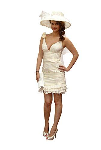 standes AMT vestido corta, con estola Beige