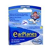 Earplanes Earplugs Ear Protection From Flight Air And Noise Sound, 1 pair (Pack of 4) by Earplanes