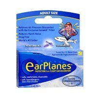 Earplanes Earplugs Ear Protection From Flight Air And Noise Sound, 1 pair (Pack of 4) by Earplanes by Earplanes