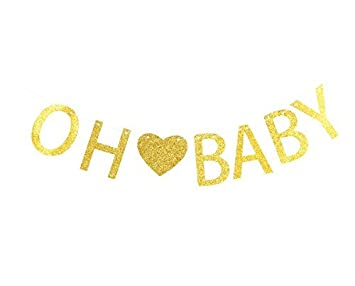 amazon lovely biton gold oh baby letters banner decoration kit