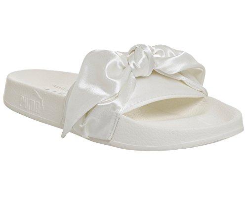hot sales 5c126 a58c4 PUMA Fenty Bow Slide Rihanna Womens Pumps 365774 Slippers (US 5.5,  Marshmallow Silver 02)