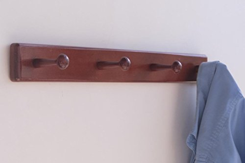 Wooden Coat Rack - 4 Pegs - Wall Mount
