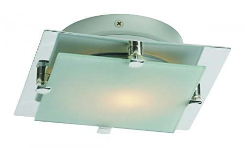 Satin Nickel Piccolo Led Single-Bulb Flush Mount Indoor Ceiling Fixture - Glass Shade Included E53832-09SN