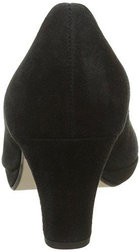 Gabor Shoes Fashion, Sandalias con Plataforma para Mujer Negro (schwarzLFS natur)